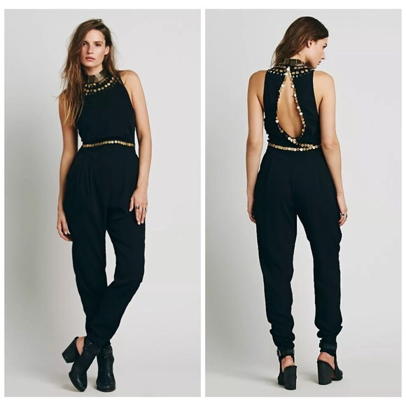 Free People Dresses & Skirts - [Free People] COIN EMBELLISHED JUMPSUIT